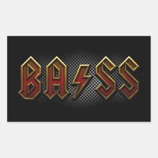 Bass Rectangular Sticker