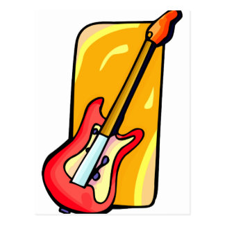 Bass , Red with yellow background graphic Postcard