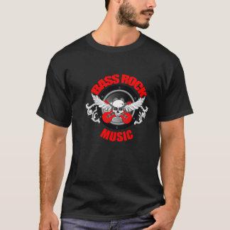 Bass Rock Music (Black T-Shirt) T-Shirt