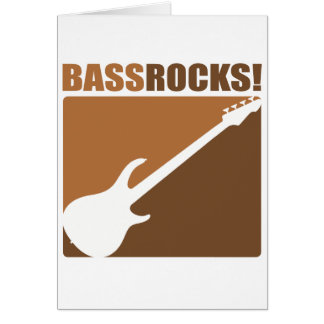 Bass Rocks! Greeting Cards