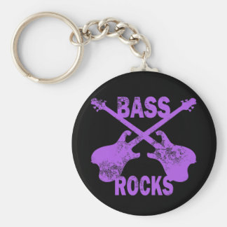 BASS ROCKS KEYCHAIN