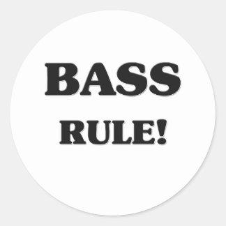 Bass Rule Classic Round Sticker