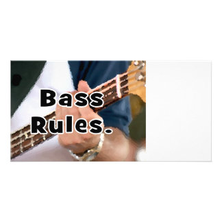 bass rules painterly player hand on neck male photo card template