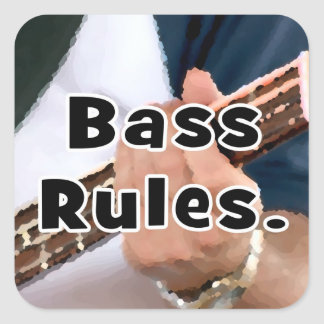 bass rules painterly player hand on neck male sticker