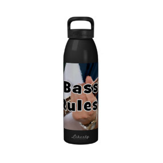 bass rules painterly player hand on neck male water bottle