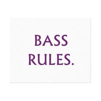 Bass Rules purple text Canvas Print