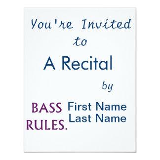 Bass Rules purple text Card