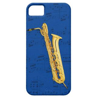 Bass Saxophone & music phone case. Pick color iPhone 5 Case
