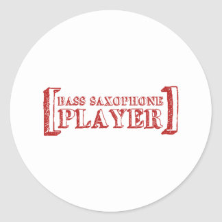 Bass Saxophone  Player Classic Round Sticker