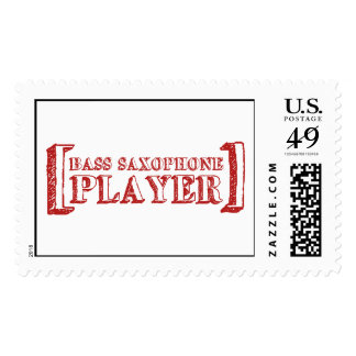Bass Saxophone  Player Stamp