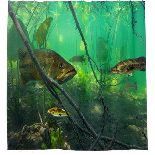 Bass Fishing Shower Curtains