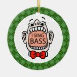 Bass Singer Christmas Music Ornament