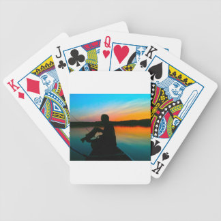 Bass Sunset Bicycle Playing Cards