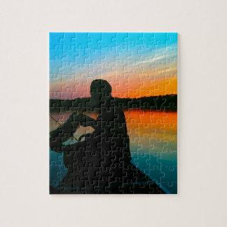 Bass Sunset Jigsaw Puzzles