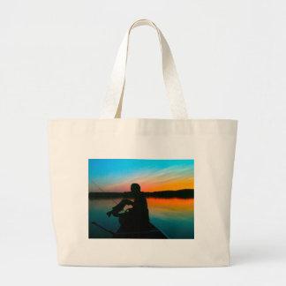 Bass Sunset Jumbo Tote Bag