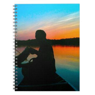Bass Sunset Spiral Notebook