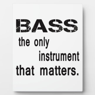 bass the only instrument that matters. display plaques