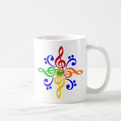 Treble Maker Coffee Mug : Bass & Treble Clef Design Classic White Coffee Mug Zazzle
