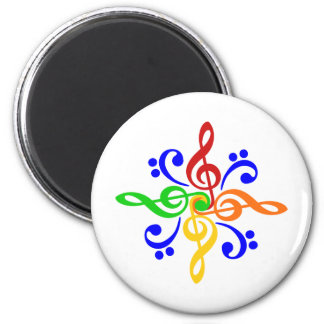 Bass & Treble Clef Design Fridge Magnet