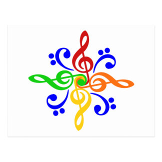 Bass & Treble Clef Design Postcard