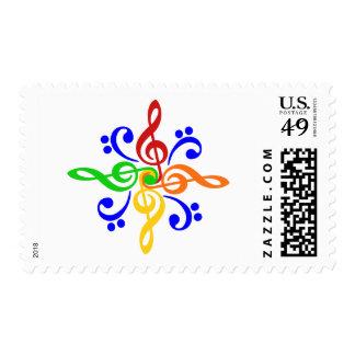 Bass & Treble Clef Design Stamp