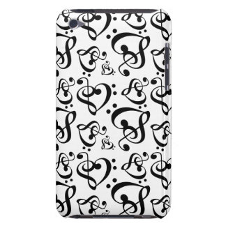Bass Treble Clef Hearts Music Notes Pattern iPod Touch Case-Mate Case