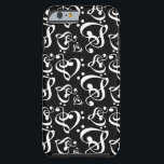 """Bass Treble Clef Hearts Music Notes Pattern Tough iPhone 6 Case<br><div class=""""desc"""">Features a music notes theme of bass and treble clef hearts. For more music note phone cases visit the rest of this shop!</div>"""