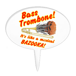 Bass Trombone Musical Bazooka Cake Pick
