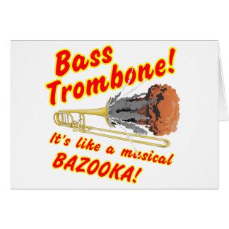 Bass Trombone Musical Bazooka Card