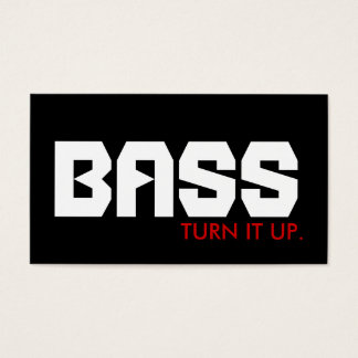 BASS : turn it up. Business Card
