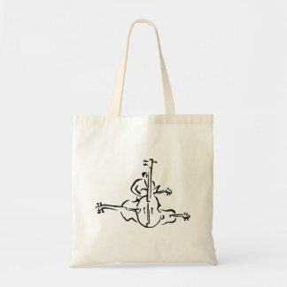 Bass, Upright and Electric Outlines with Man Tote Bag