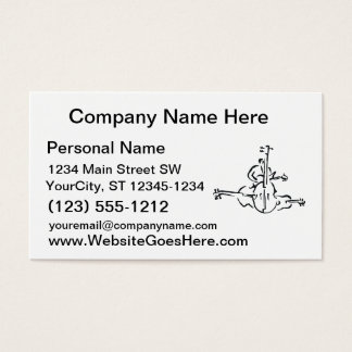 Bass, Upright and Electric Outlines with Man Business Card