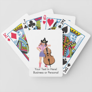bass upright player cowgirl.png bicycle playing cards
