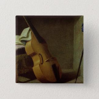 Bass Viol, Score Sheet and a Sword, 1693 Button