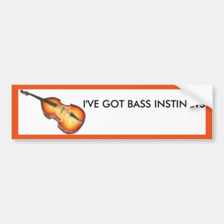 Bass Violin Instincts Bumper Sticker