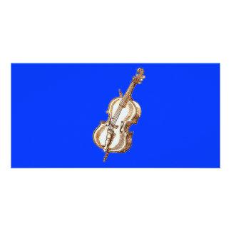Bass Violin Customized Photo Card
