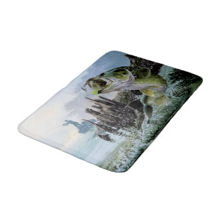 Fishing bath mats zazzle for Fish bath rug
