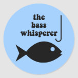 bass whisperer classic round sticker