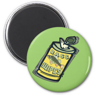 Bass Wipes Fishing  T-shirts and Gifts 2 Inch Round Magnet