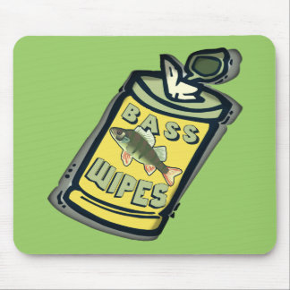 Bass Wipes Fishing  T-shirts and Gifts Mouse Pad