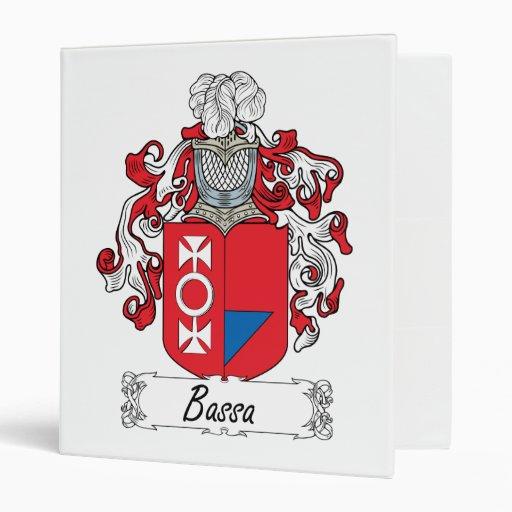 Bassa Family Crest Vinyl Binder