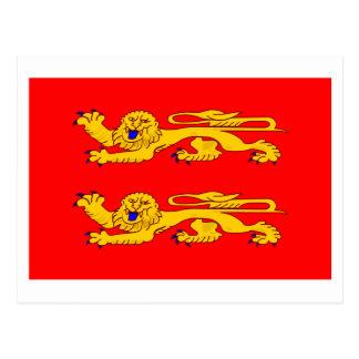 Basse-Normandie flag Postcard