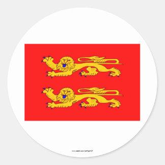 Basse-Normandie flag Classic Round Sticker