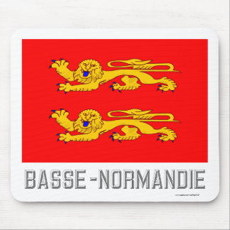 Basse-Normandie flag with name Mouse Pads