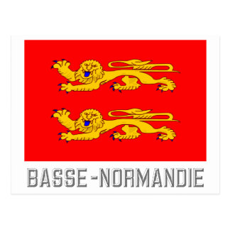 Basse-Normandie flag with name Postcard