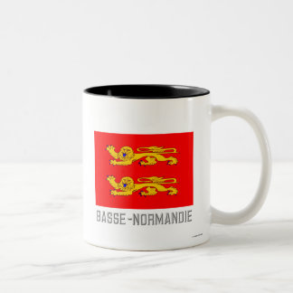 Basse-Normandie flag with name Two-Tone Coffee Mug
