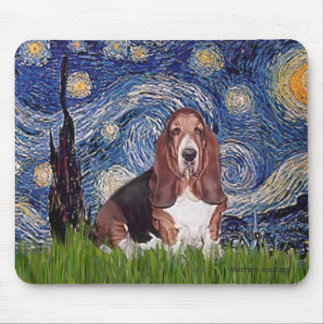 Basset 1 - Starry Night Mouse Pad
