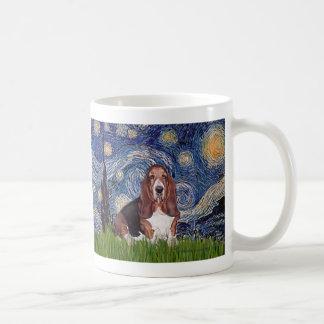 Basset 1 - Starry Night Mugs