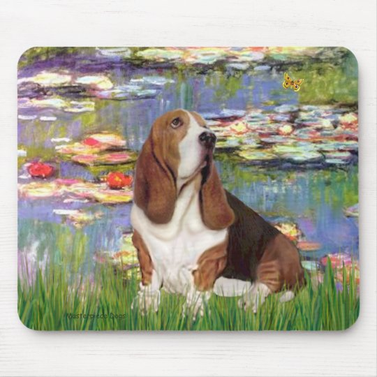 Basset 2 - Lilies 2 Mouse Pad
