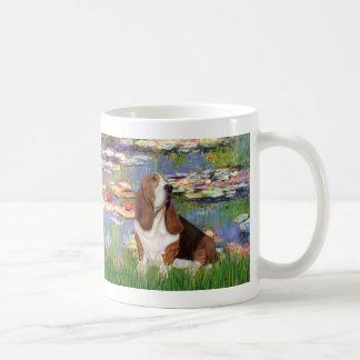 Basset 2 - Lilies 2 Coffee Mugs